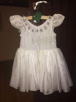 Шикарное платье снежинки на девочку ростом 98-104 см
