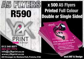 Printing of Flyers