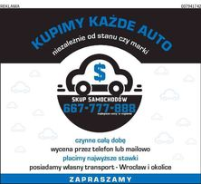 SKUP AUT każda marka i stan; Wrocław i okolice; Transport; ZAPRASZAMY