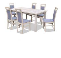 Zestaw DAMIAN Stół Rozkładany + 6 Krzeseł Dąb SONOMA extra cena!!!
