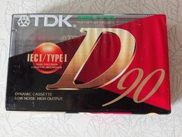 Аудиокассета кассета касета TDK D - 90 EA
