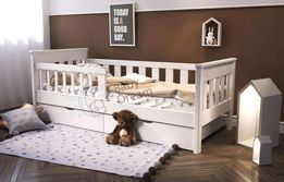 Кровать подростковая детская от 3 лет с бортиками