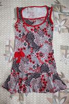 Летнее платье, сарафан в цветочек, made in Turkey, размер 36-38