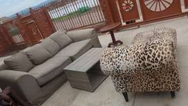 Stylish couches and coffee table for sale