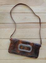 Женская сумочка клатч кожа змеи натуральная 26 х 14 см