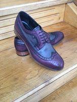 Брендовые туфли дерби, оксфорды-броги Roberto Serpentini. Италия 43