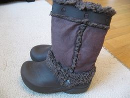 Теплые сапоги кроксы Crocs Nadia boots 12C13 18,5 стелька