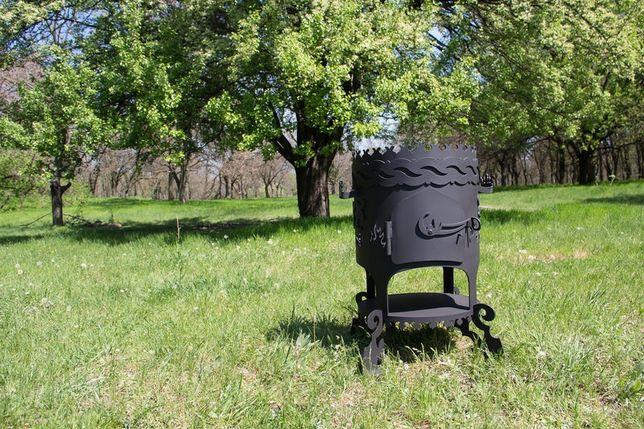 Печь под казан на дровах- печка для казана. Барбекю для дачи. Мангалы. Днепр - изображение 4