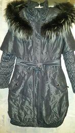 Зимнее пальто женское. Размер М - L.