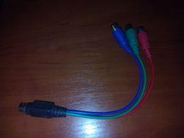 ПРОДАМ ДЕШЕВО кабель переходник с S-video 7pin на 3RCA