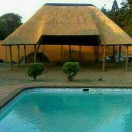 Thatch Lapas, Roofings, Rock Art, Built in Braai, Fire Protection
