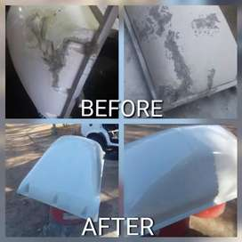 Spray painting and panel beating