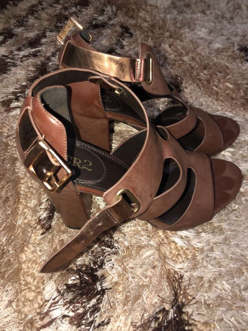 Brown strapy sandals in size 38 0