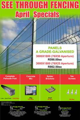 ASAP See Through Fencing April Special