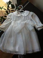 Sukienka do chrztu 68 cm