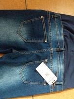 Spodnie ciążowe rurki jeans z panelem - nowe