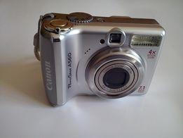 Aparat cyfrowy Canon PowerShot A560 + oryginalny pokrowiec (Cordura)