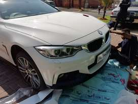 4 Series 3 piece Gloss Black Front lips