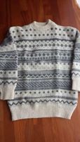 Ciepły męski sweter L