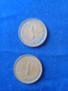 Old one cents  RHODESIA 1970