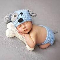 Костюм собачки для фото новорожденных. 140 гн!!!