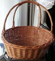 kosz na Wielkanoc - duży koszyk wiklinowy ratan dla dużej Rodziny