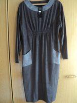 Платье из комбинированной замши размер 54