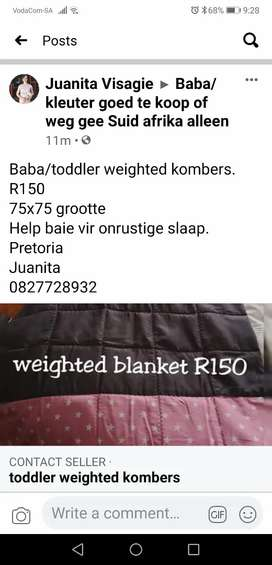 Weighted blanket baby/toddler
