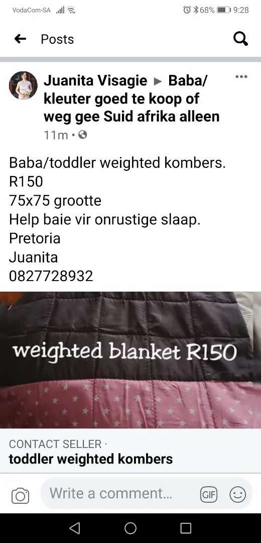 Weighted blanket baby/toddler 0