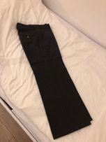 Culottes szare Zara XS 34 spodnie na kant proste