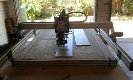 Cnc machine Combo 2mx1m bed with cutter router and laser engraver