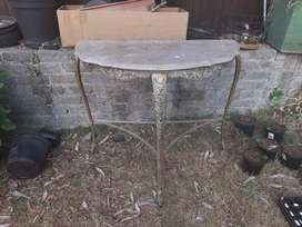 Antique Marble half moon table