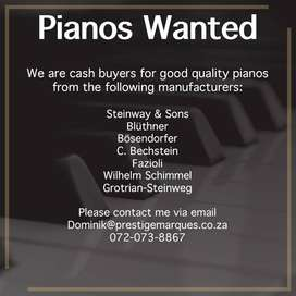 Pianos Wanted