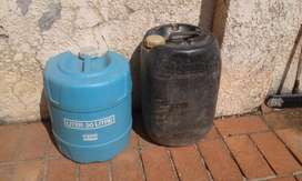 Plastic Drum Containers 20L. One for water and one for fuel. R150 each