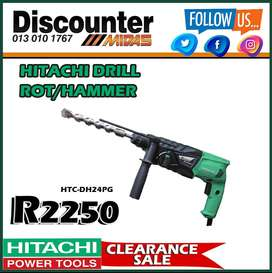 Hitachi Drill Rot/Hammer ONLY R2250 at Discounter Midas!