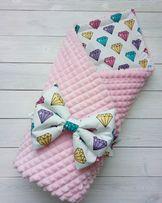 Конверт на выписку, детский плед, одеяло