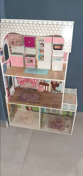 Doll house with kitchen set for sale