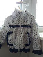 Детская курточка ветровка на флисе для девочки НОВАЯ р.86