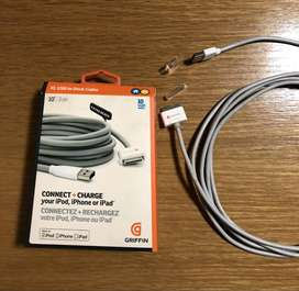 Original 3 m cable for iPhone 4, iPod  touch, iPod classic, iPod nano