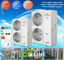 Тепловий насос EcoLineDCI (повітря-вода) 12кВт Акція! Ціна та Якість!