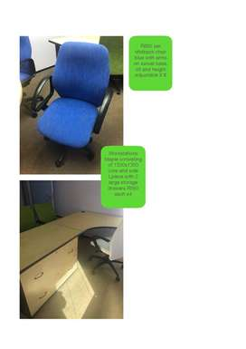 Office desks (R550) & Executive Chairs (R850)