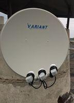 Спутниковая антенна+тюнер HD(антенна собрана,тюнер прошит)