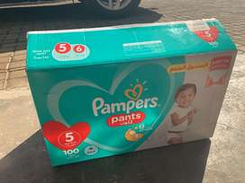 Brand new pampers pants stage 5(150 pants, 3 pack)