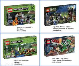 LEGO - Minecraft, Lego Movie &  Monster Sets For Sale