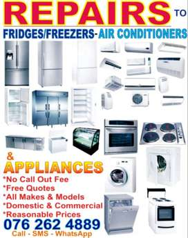 Repairs to Fridges / Freezers, Aircons and Appliances