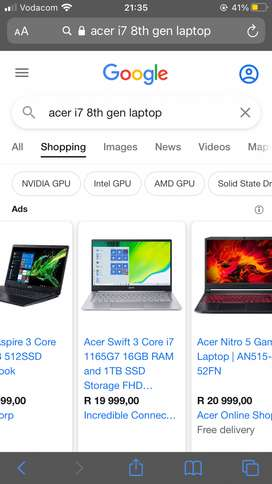 Acer swift 3 core i7 8th gen all brand new
