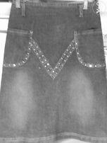 продается оригинальная модель юбки из стрейч-джинсовки р.42 170 гр