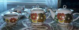 Чайный сервиз, набор для чая, чайник, сахарница