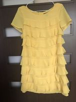 Żółta sukienka h&m zara Tommy patrizia