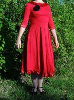 Sukienka hiszpanka M czerwona Halloween karnawał